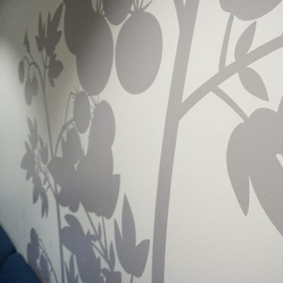 Close Up of Wall Graphics at Syngenta Oak Brook Office