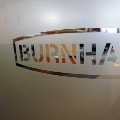 Custom Cut Burnham Logos Placed Throughout Installation