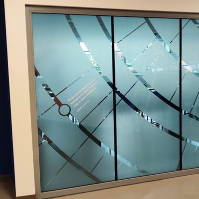 Decorate Privacy Film Installed in High School