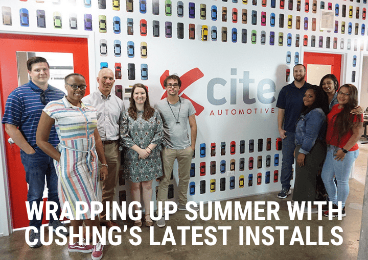 Summer graphic displays installed by cushing