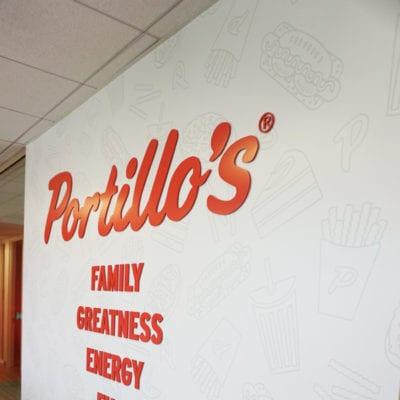 Portillo's Conference Room Dimensional Lettering