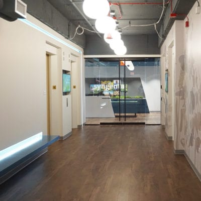 Wall Graphics With Canvas Prints in Background at Syngenta