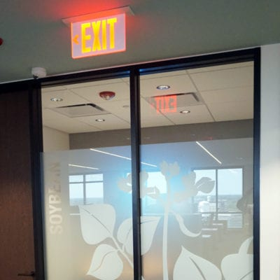 Detailed Partial Privacy Film at Syngenta