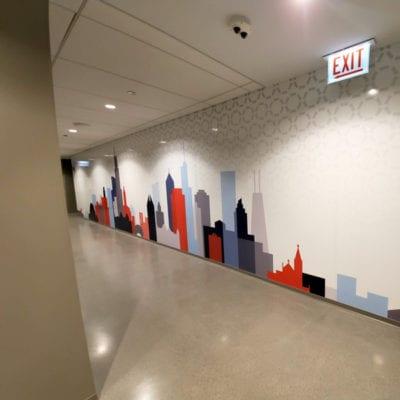 Environmental Branding in Corporate Hallway