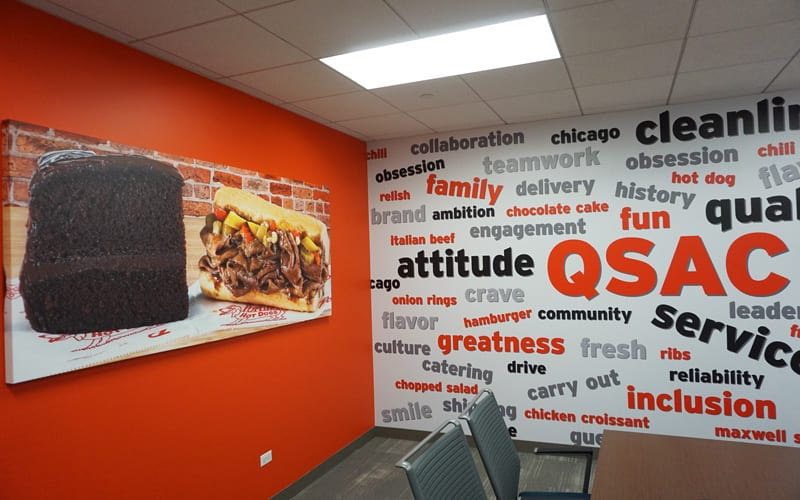 Canvas Prints and Wall Graphics at Portillo's Corporate Office