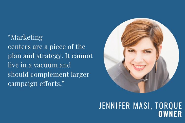 Marketing Centers Help Close Deals 2 Jennifer Masi Torque One 1
