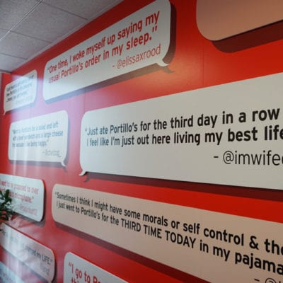 Wall Graphics Inject Personality With Tweets