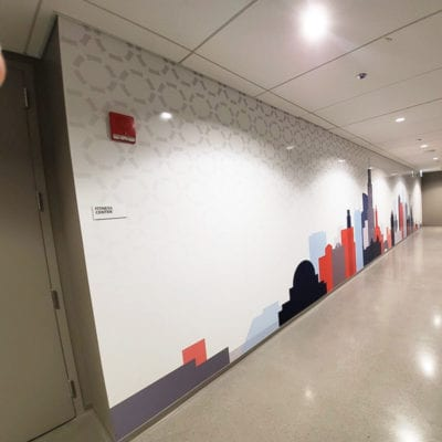 Wall Graphics Printed and Installed by the Cushing Team