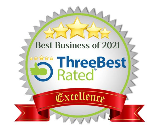 Cushing Named Three Best Rated Best Business of the Year for 2021.