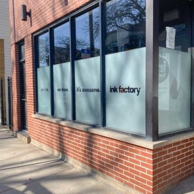 Commercial Window Signage at Ink Factory
