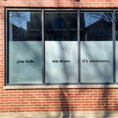 Storefront Window Signage at Ink-Factory