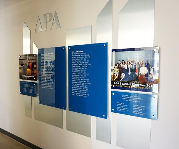 Acrylic Office Display With Standoffs at American Planning Association