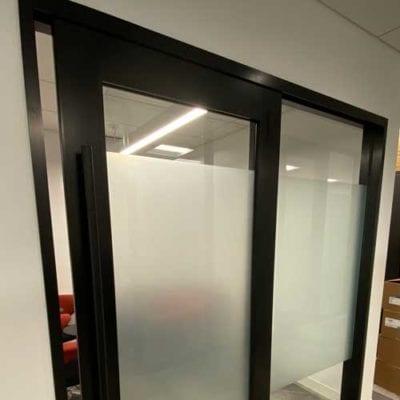 Door Privacy Panels at C.U.R.E