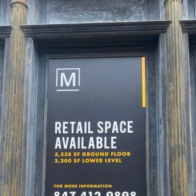 Retail Space Available Sign in Window