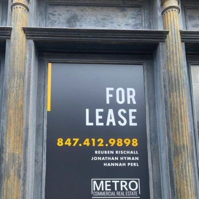Window Signage for Metro Commercial Real Estate
