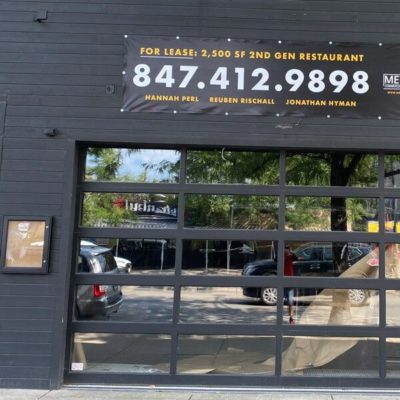 Banners Installed for Metro Commercial Real Estate