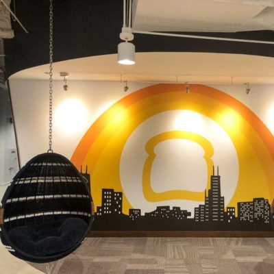 Wall Graphics WIth Chairs at Toast
