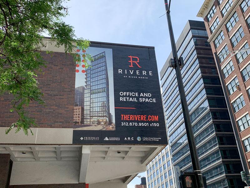 Large Building Banner Installed for Friedman Properties
