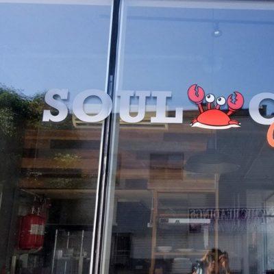 Close Up of Soul Crab Window Graphics