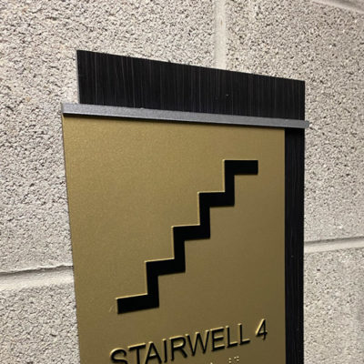 Braille Sign to Identify Stairwell
