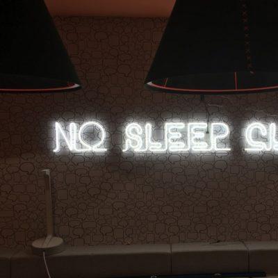 No Sleep Club Neon Signage