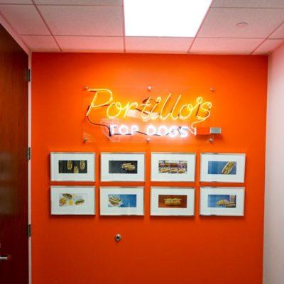 Portillos Top Dog Neon Signage