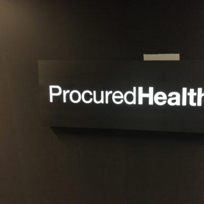 Procured Health Lit Signage
