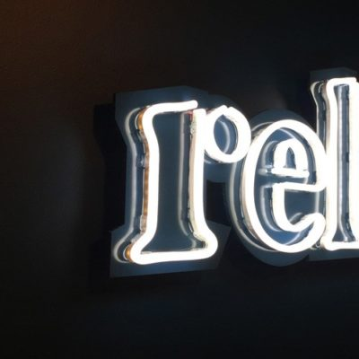 Relish LED Sign Installed