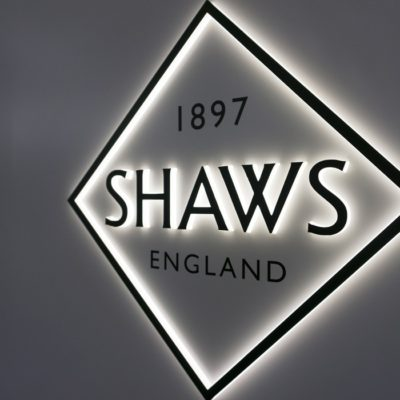 Shaws Dimensional Lit Signage in Retail Location