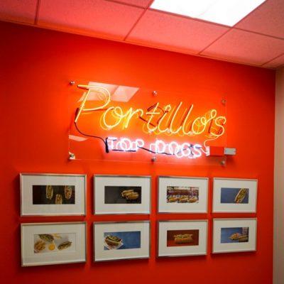 Neon Signage at Portillo's