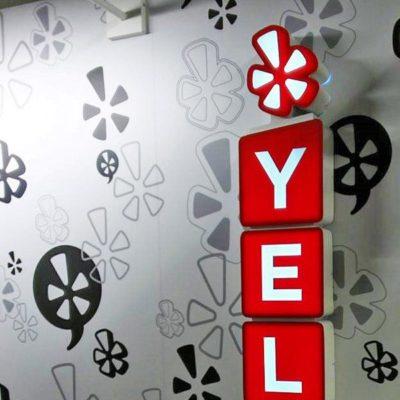 Yelp Lightbox Installed Inside Office