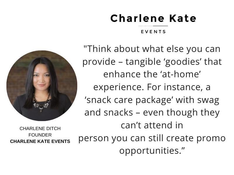 Virtual Event Planning 4 Charlene In Home Promo Quote One