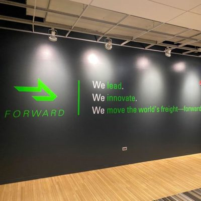 Wall Graphics Installed at the Coyote Logistics Corporate Office.