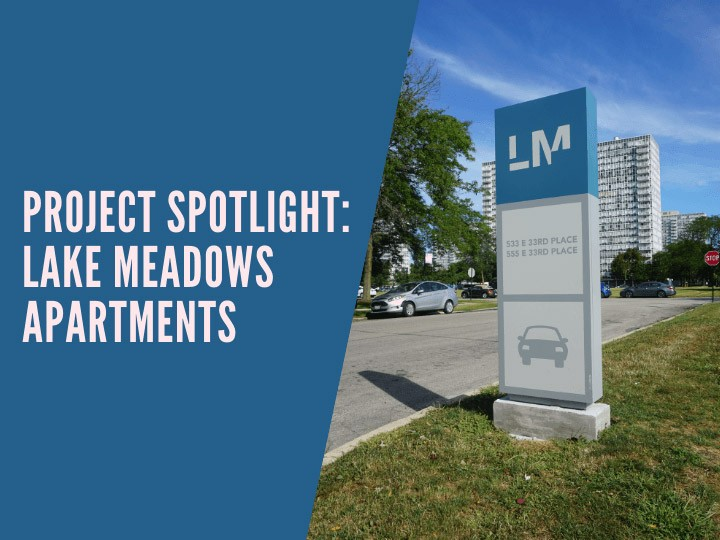 Lake Meadows Project Spotlight Graphic That Links to Their Article.