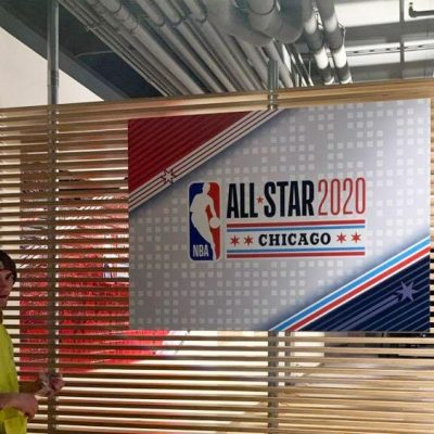 Signage for the NBA All Star Game.