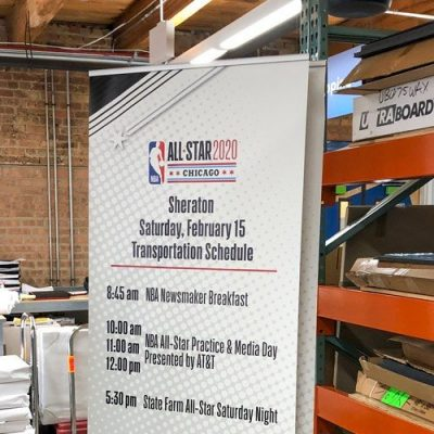 Banner Stand for the NBA All Star Game