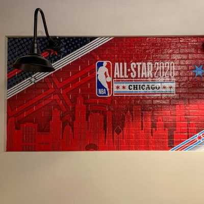 Wall Graphic Installed for the NBA All Star Game.