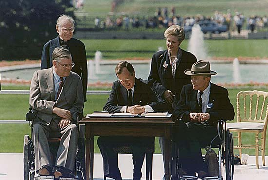 5 reasons to plan ada signage 2 pres george hw bush americans with disabilities july 26 1990