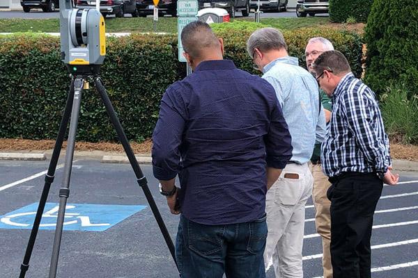 Reviewing an Exterior Laser Scan.