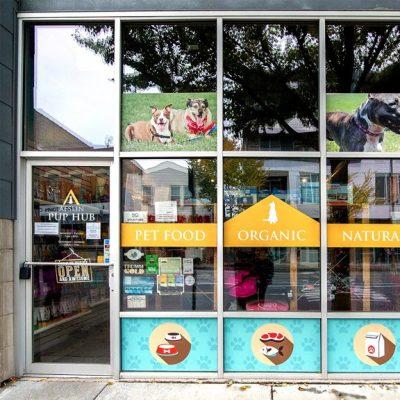 Window Signage Installed at Aeslin Pup Hub