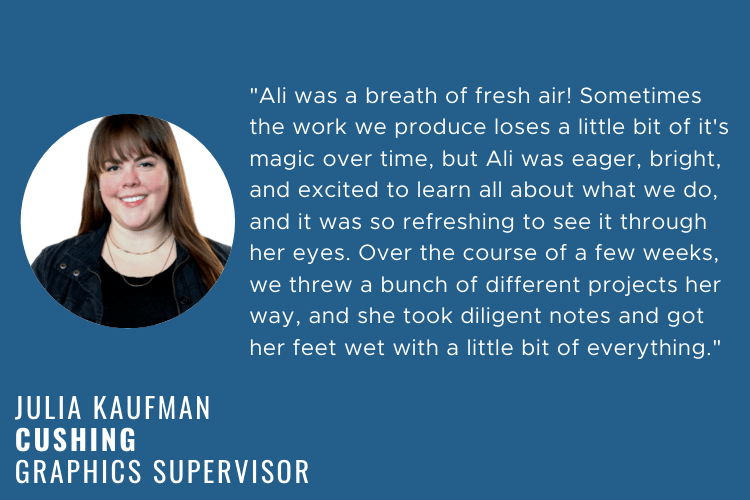 Life as an intern at cushing 4 julia kaufman quote working with ali