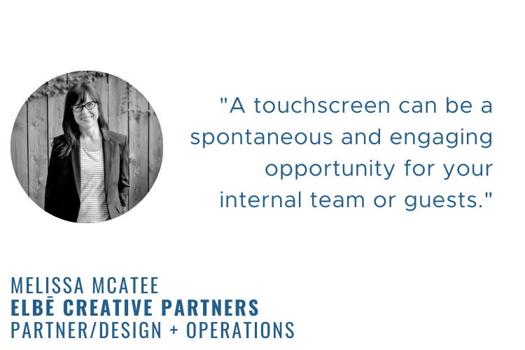 Melissa mcatee quote on using touchscreens.