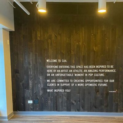 Vinyl Wall Lettering Installed at CAA
