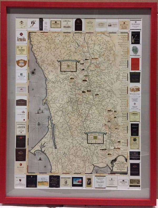 Creative ways to welcome teams back to the office 6 wine country canvas map